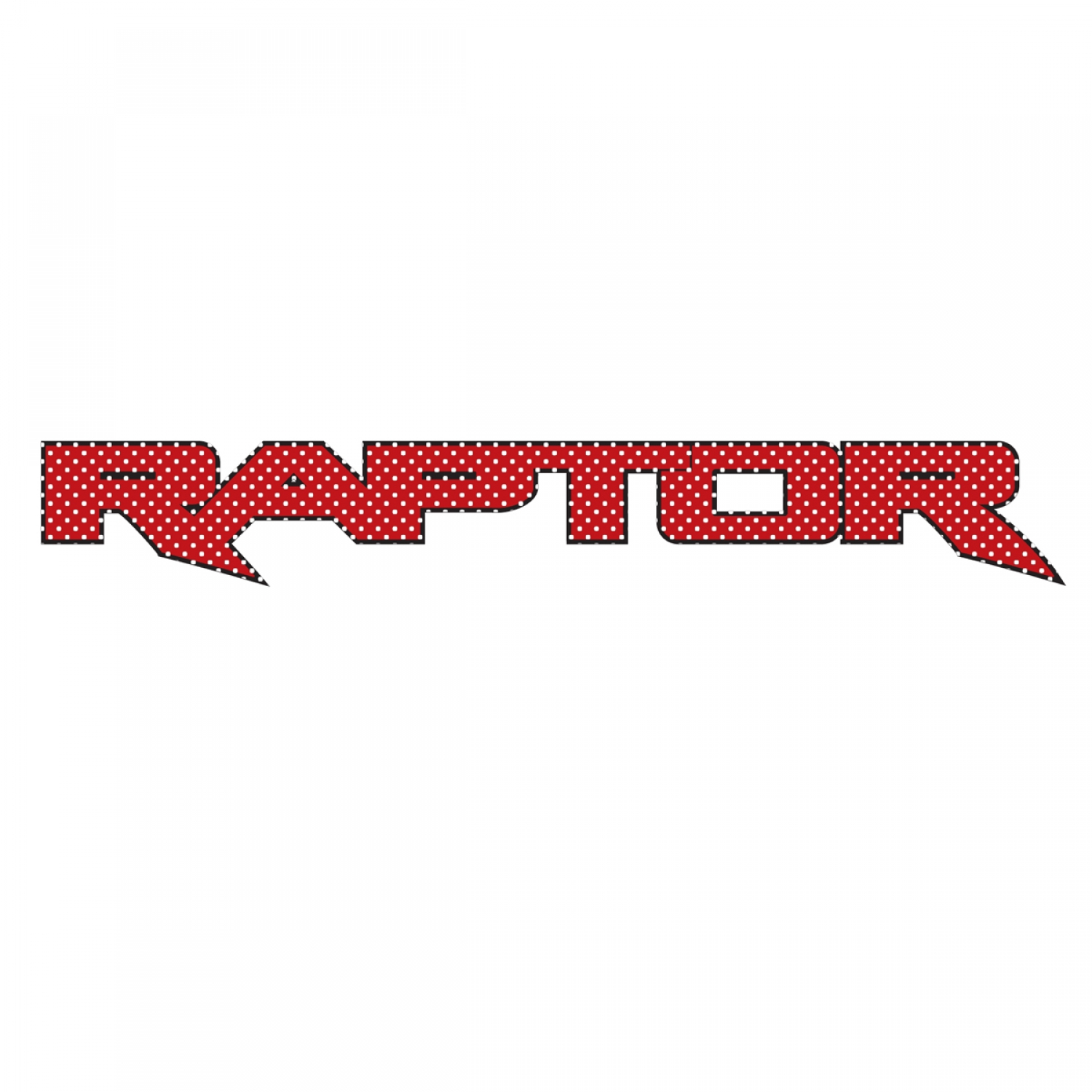 "Ford F150 Raptor 2017 up in Red 12"" 3M Perforated Unobstructed View Window Graphic Decorative Decal"