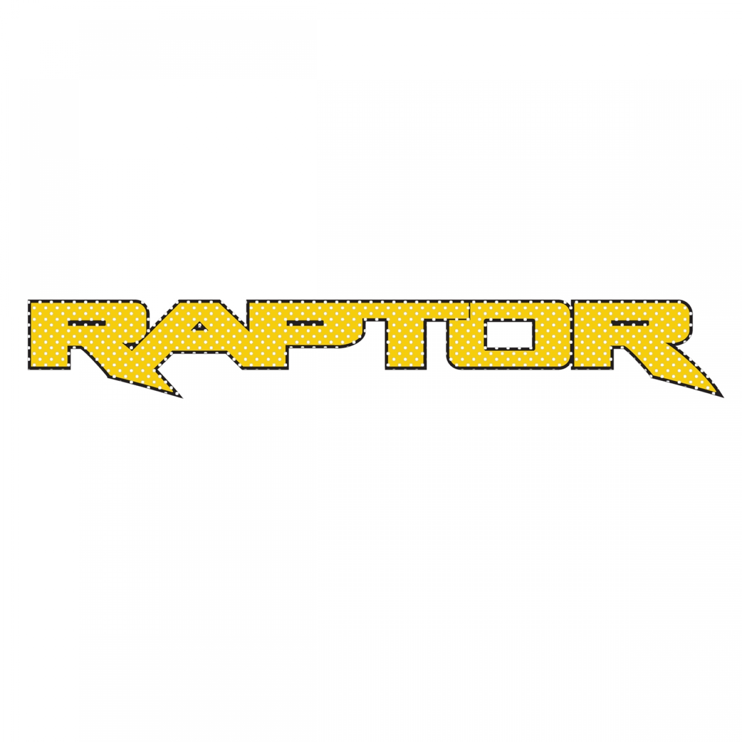 "Ford F150 Raptor 2017 up in Yellow 12"" 3M Perforated Unobstructed View Window Graphic Decorative Decal"