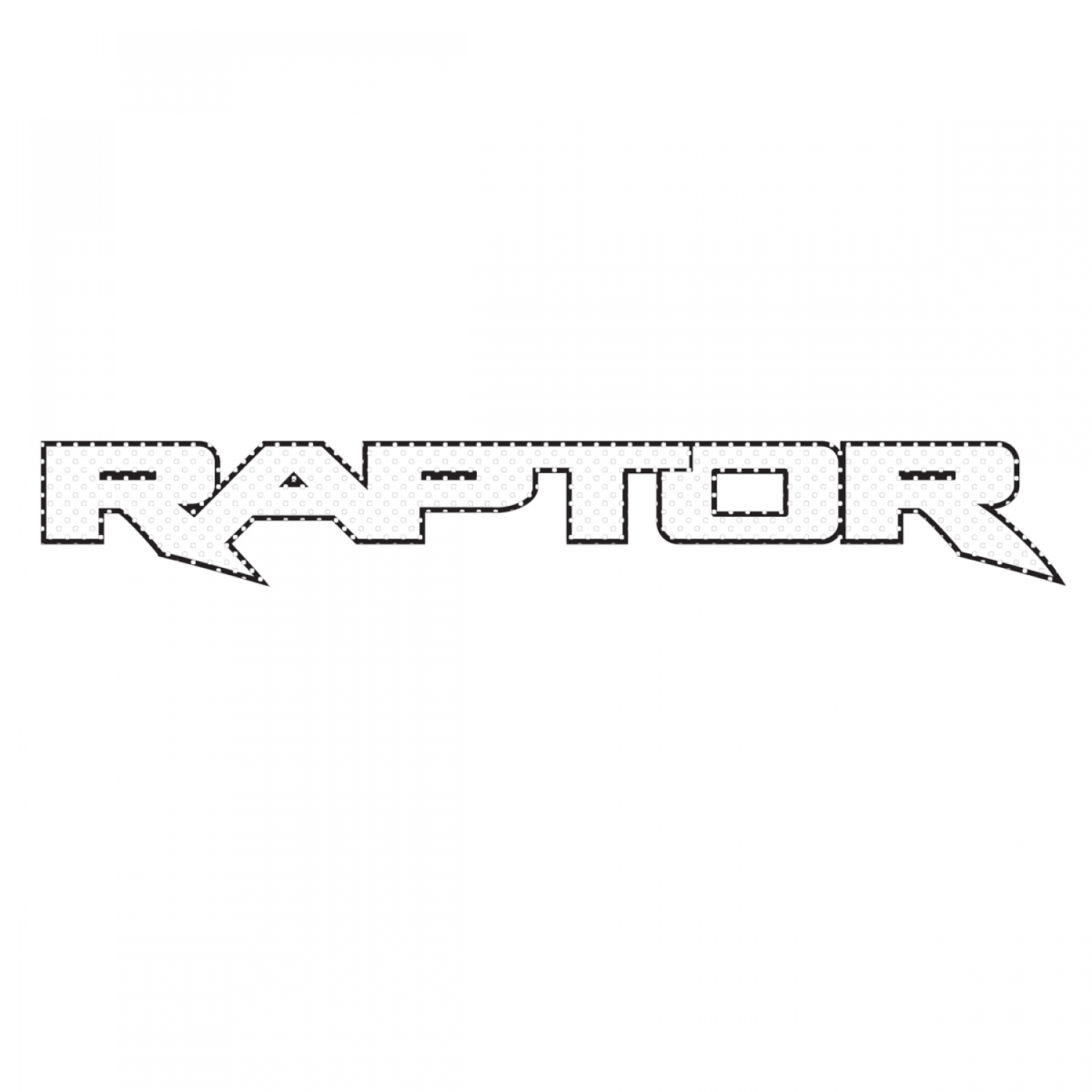 "Ford F150 Raptor 2017 up 12"" 3M Perforated Unobstructed View Window Graphic Decorative Decal"
