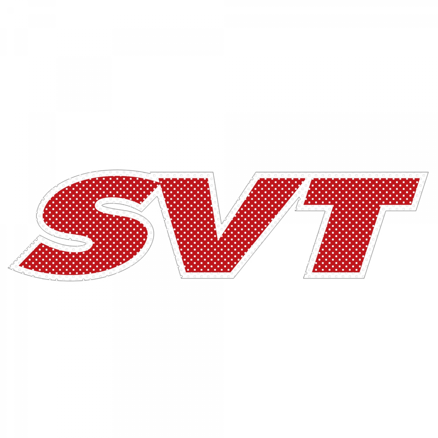 """Ford SVT 12"""" 3M Perforated Unobstructed View Window Graphic Decorative Decal"""