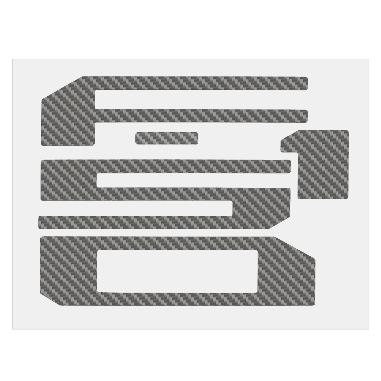 Ford F-150 2018 Tailgate Silver Carbon Fiber Texture Letter Insert Decal Sticker