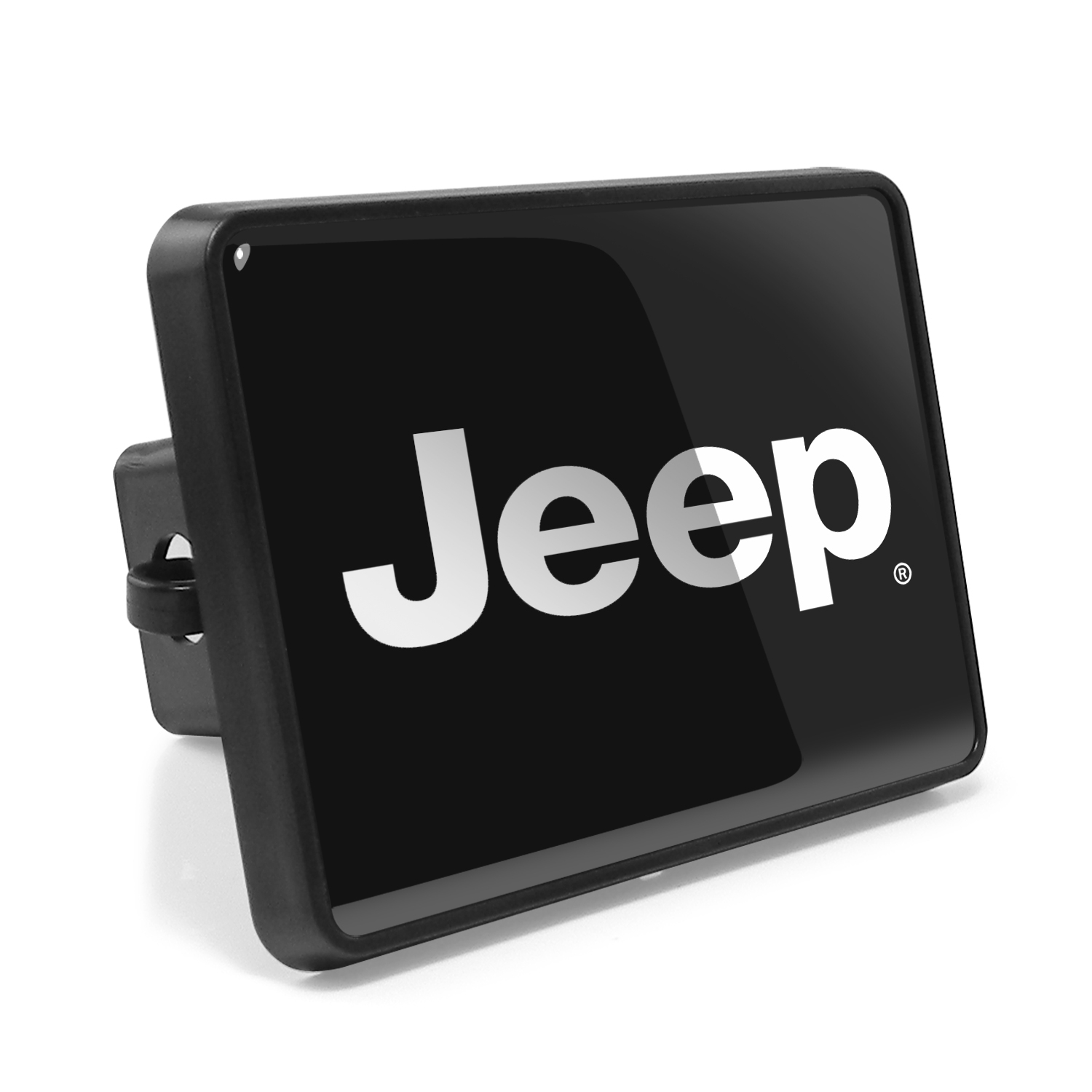 "Jeep 2"" Plastic Tow Hitch Cover with Locking Clip"