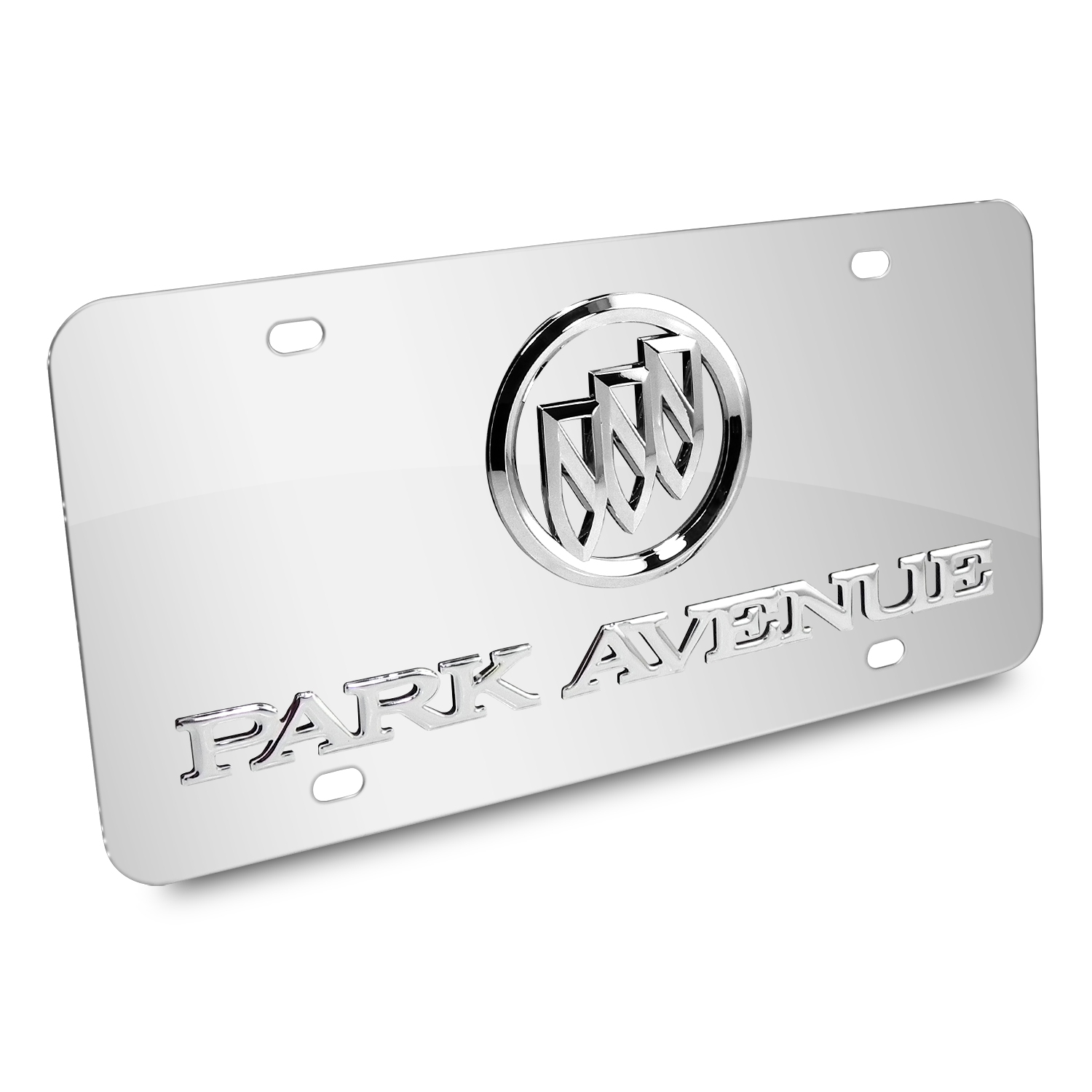 Buick Park Avenue 3D Logo Chrome Stainless Steel License Plate