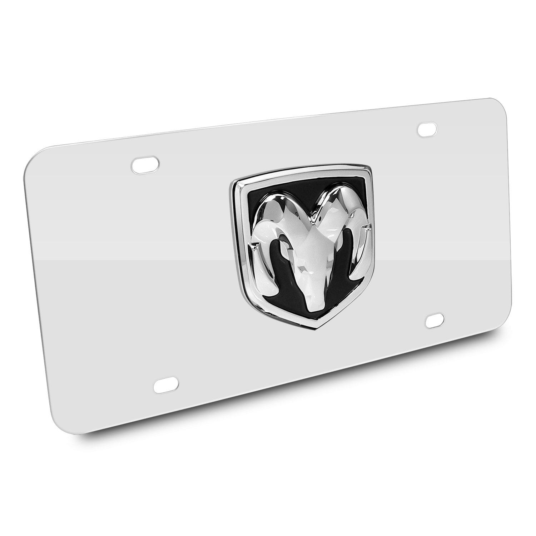 RAM 3D Logo Chrome Stainless Steel License Plate