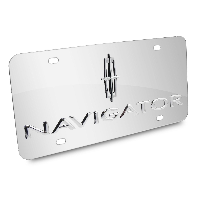 Lincoln Navigator 3D Logo Chrome Stainless Steel License Plate