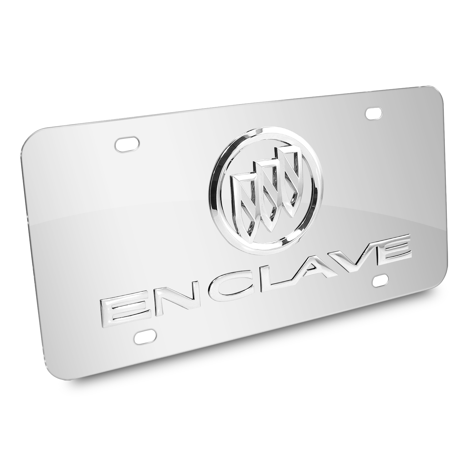 Buick Enclave 3D Logo Chrome Stainless Steel License Plate