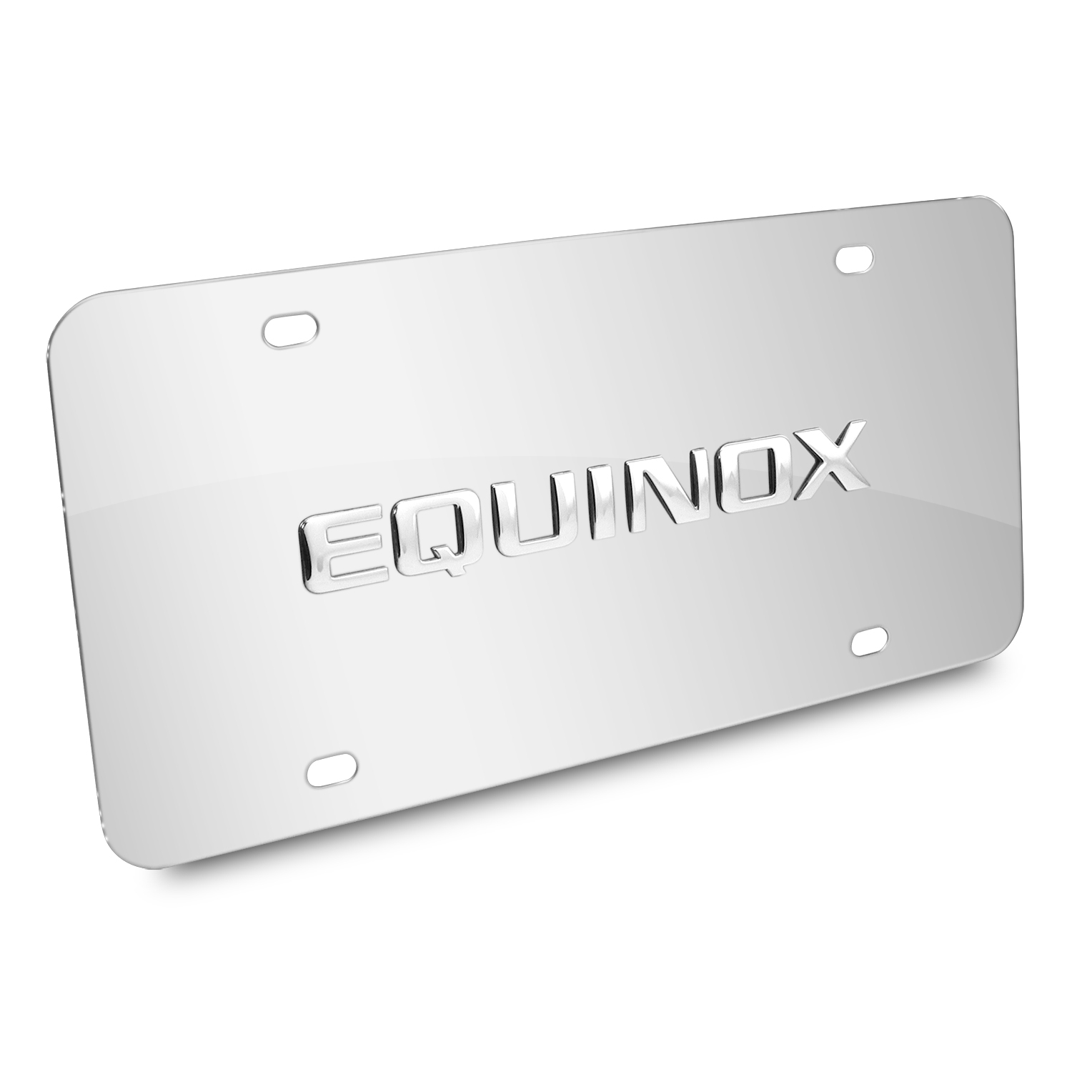 Chevrolet Equinox Nameplate 3D Logo Chrome Stainless Steel License Plate