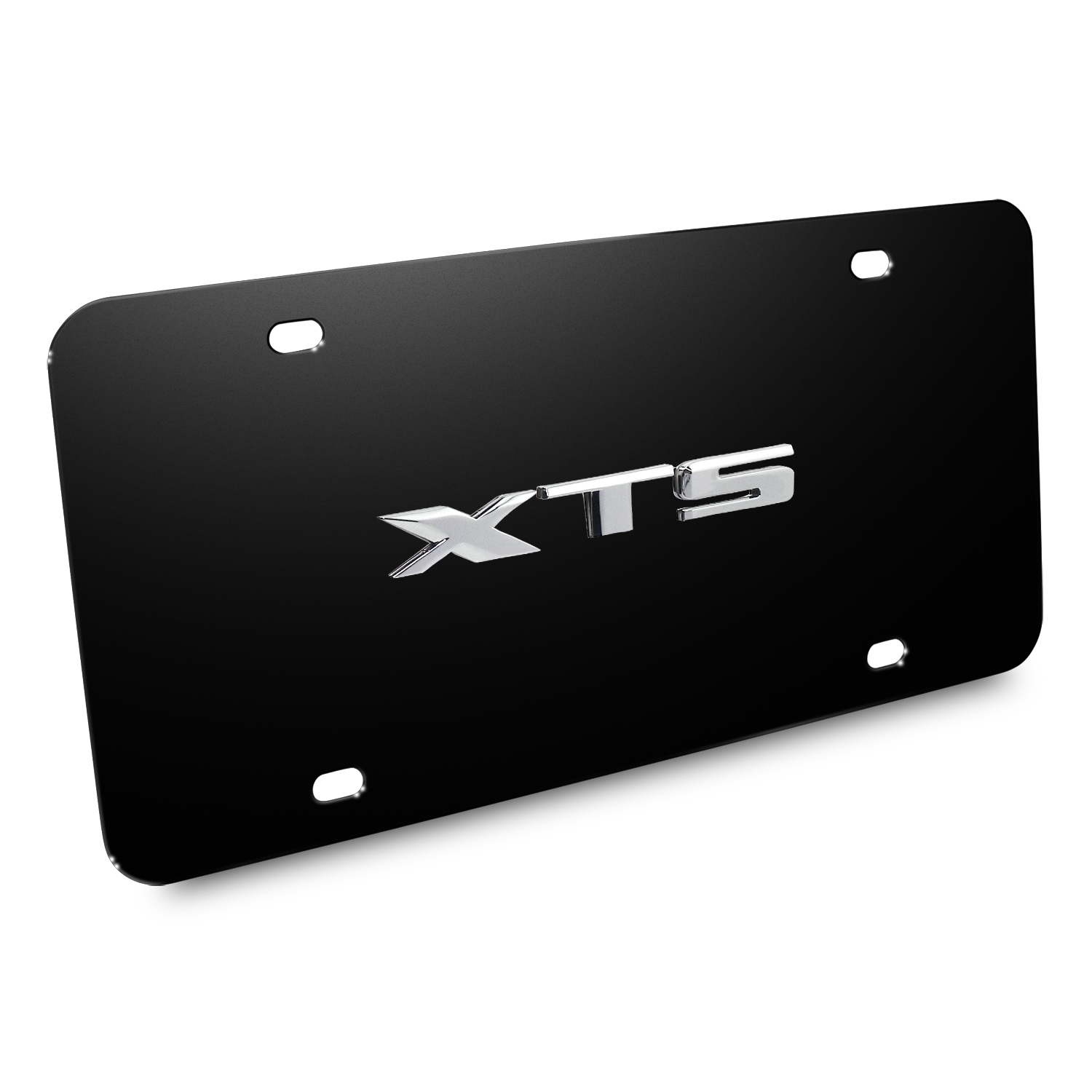 Cadillac XTS Name 3D Logo Black Stainless Steel License Plate