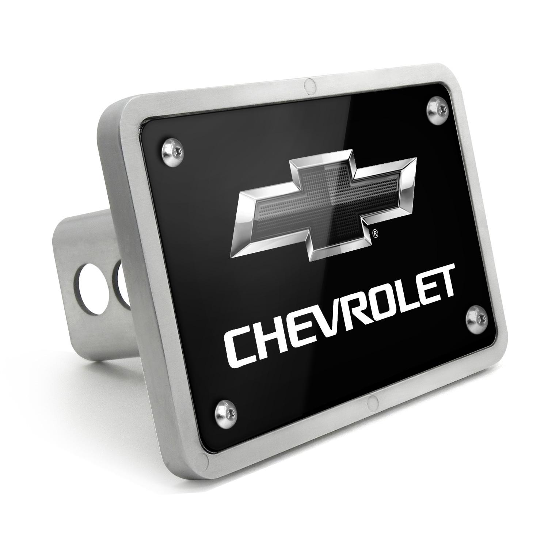 Chevrolet Black Logo 2011 UV Graphic Black Billet Aluminum 2 inch Tow Hitch Cover