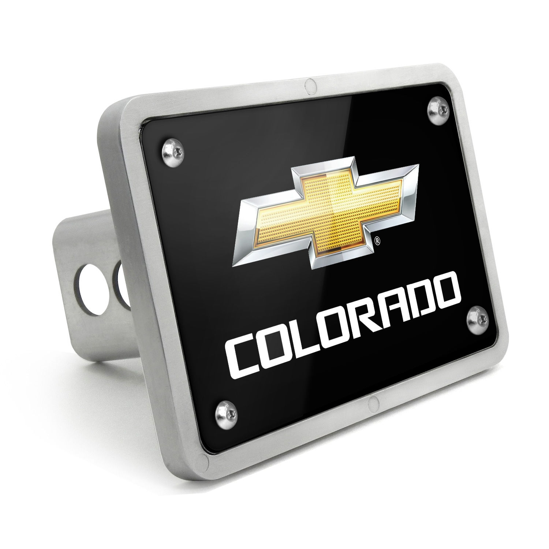 Chevrolet Colorado 2012 UV Graphic Black Billet Aluminum 2 inch Tow Hitch Cover