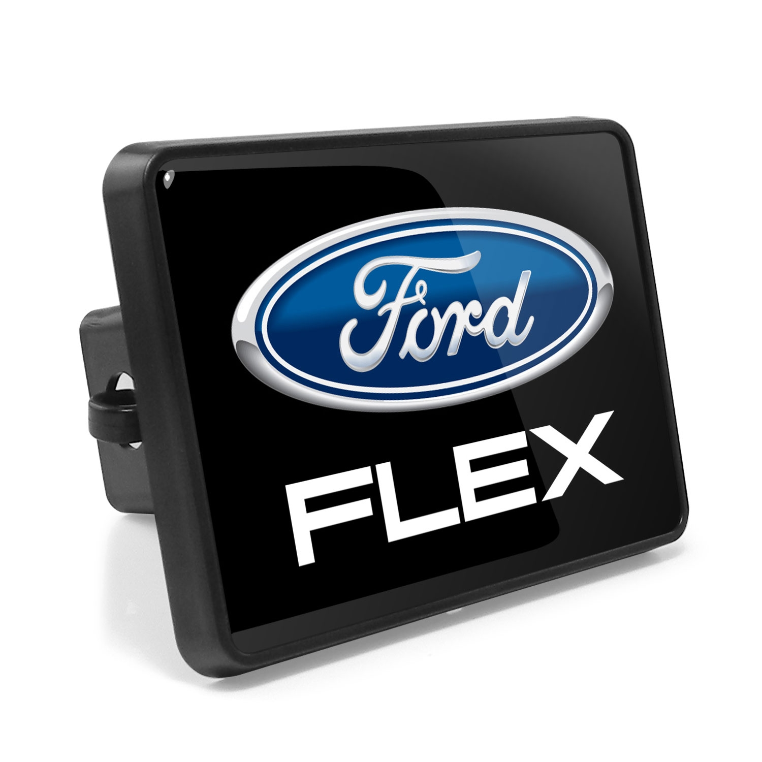 Ford Flex UV Graphic Metal Plate on ABS Plastic 2 inch Tow Hitch Cover