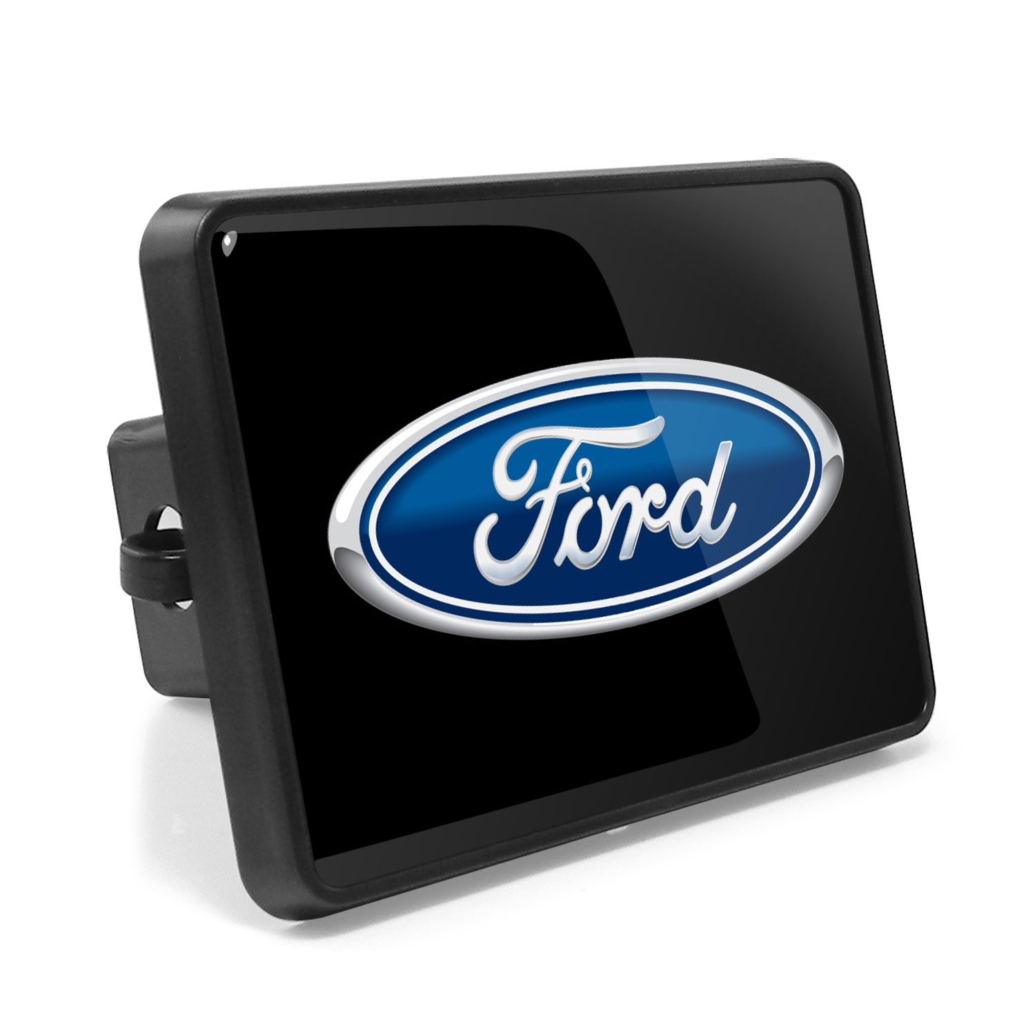 Ford Logo UV Graphic Metal Plate on ABS Plastic 2 inch Tow Hitch Cover