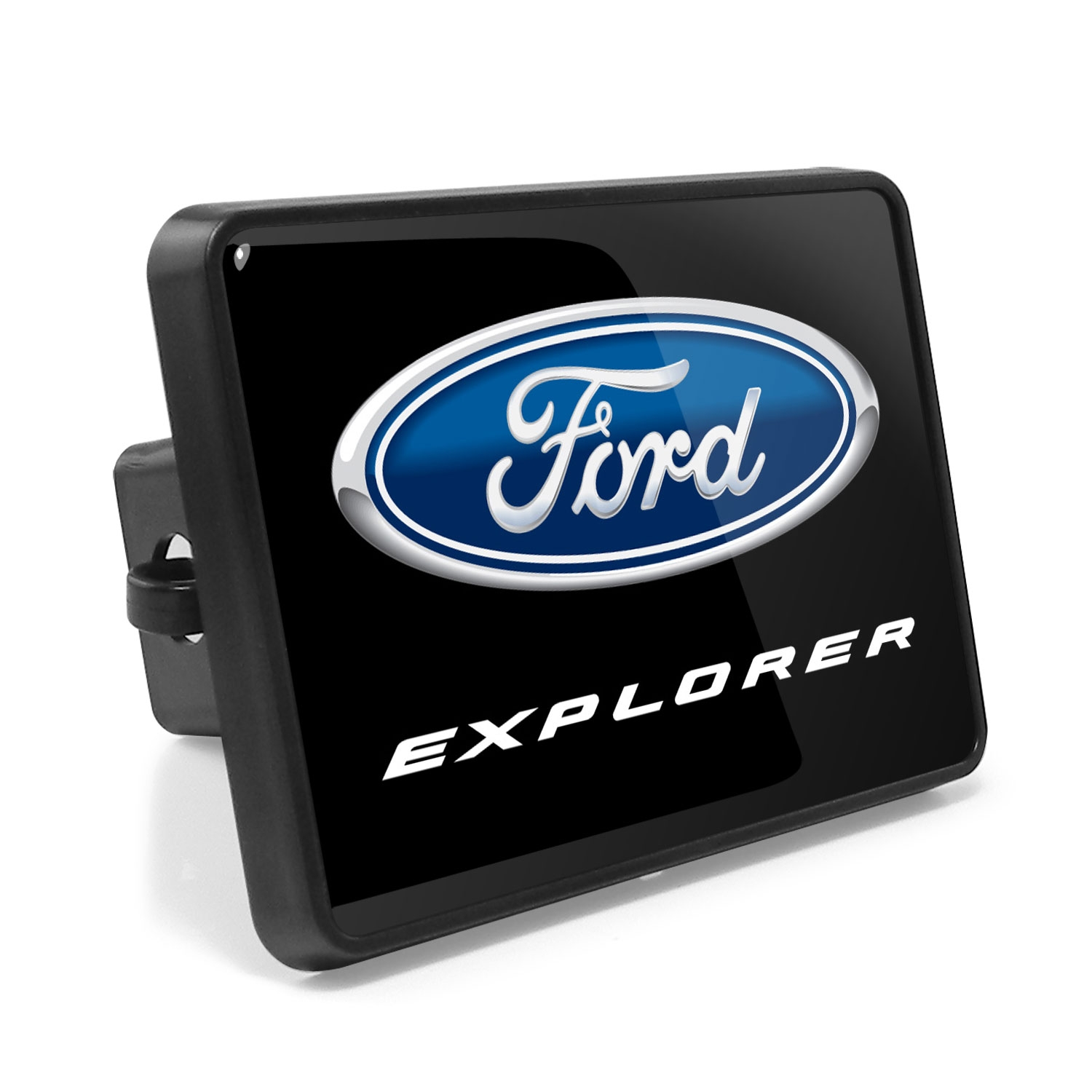 Ford Explorer UV Graphic Metal Plate on ABS Plastic 2 inch Tow Hitch Cover