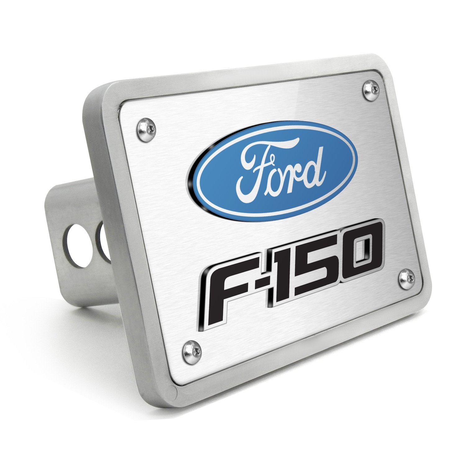 "Ford F-150 2009-2014 3D Logo Brushed 3/8"" thick Billet Aluminum 2 inch Tow Hitch Cover"