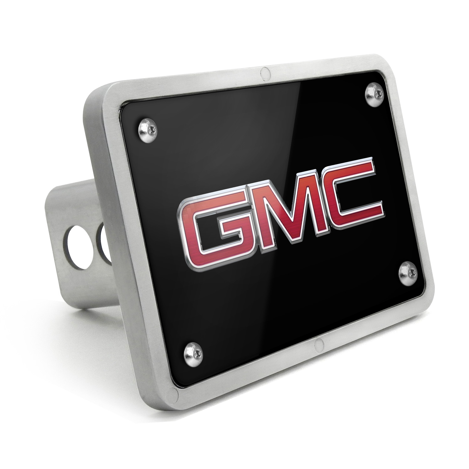 GMC UV Graphic Black Billet Aluminum 2 inch Tow Hitch Cover
