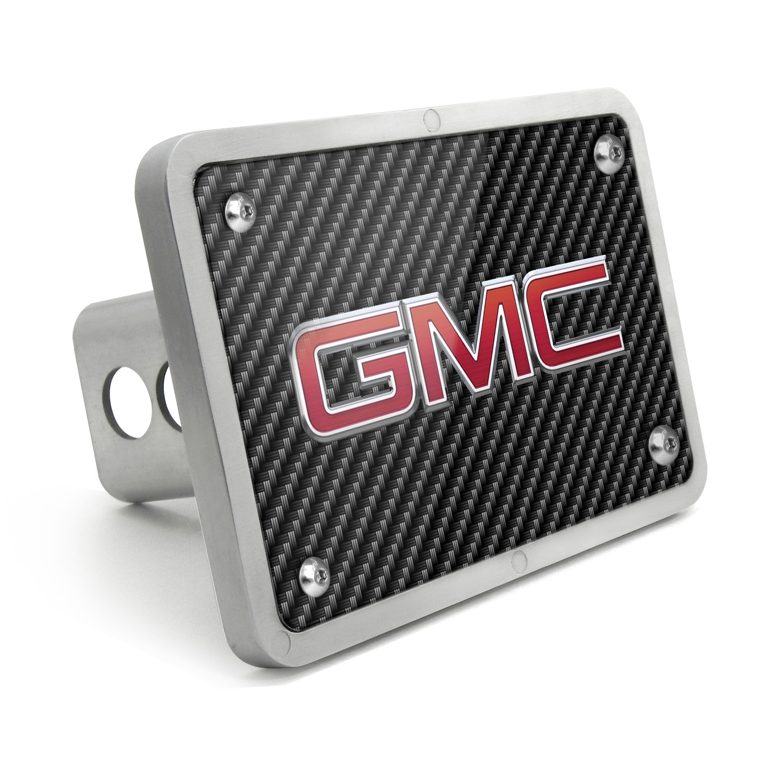 GMC 2010 UV Graphic Carbon Fiber Texture Billet Aluminum 2 inch Tow Hitch Cover
