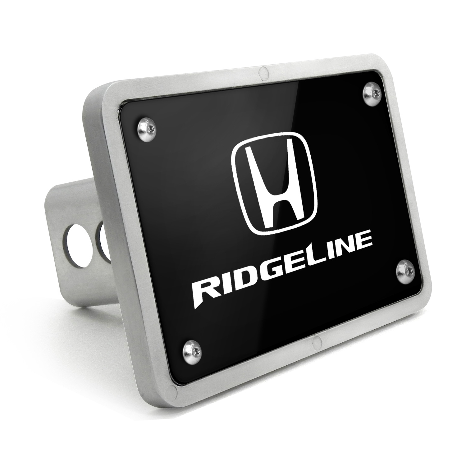 Honda Ridgeline UV Graphic Black Billet Aluminum 2 inch Tow Hitch Cover