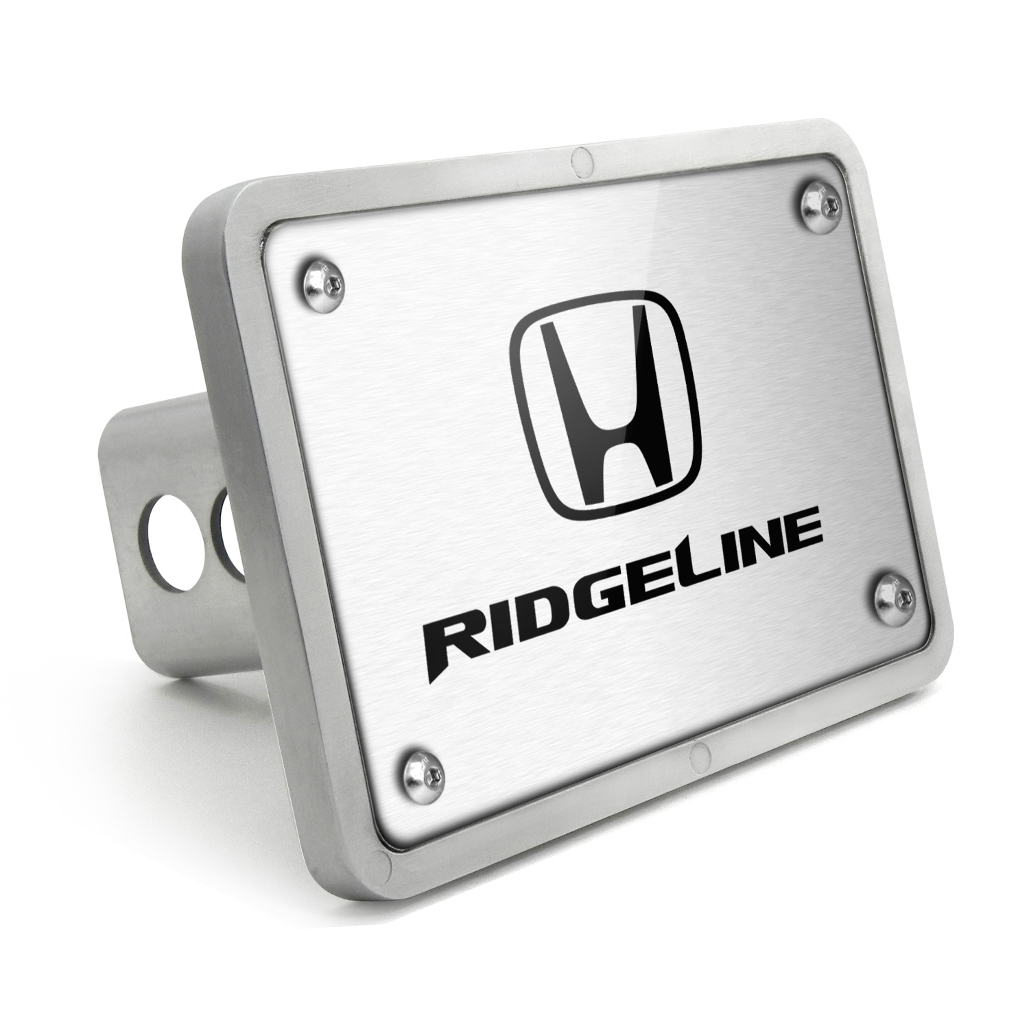 Honda Ridgeline UV Graphic Brushed Billet Aluminum 2 inch Tow Hitch Cover