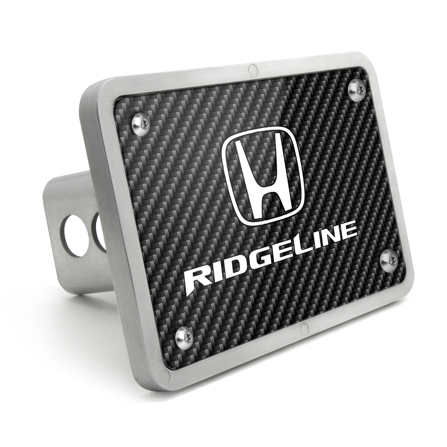 Honda Ridgeline UV Graphic Carbon Fiber Texture Billet Aluminum 2 inch Tow Hitch Cover