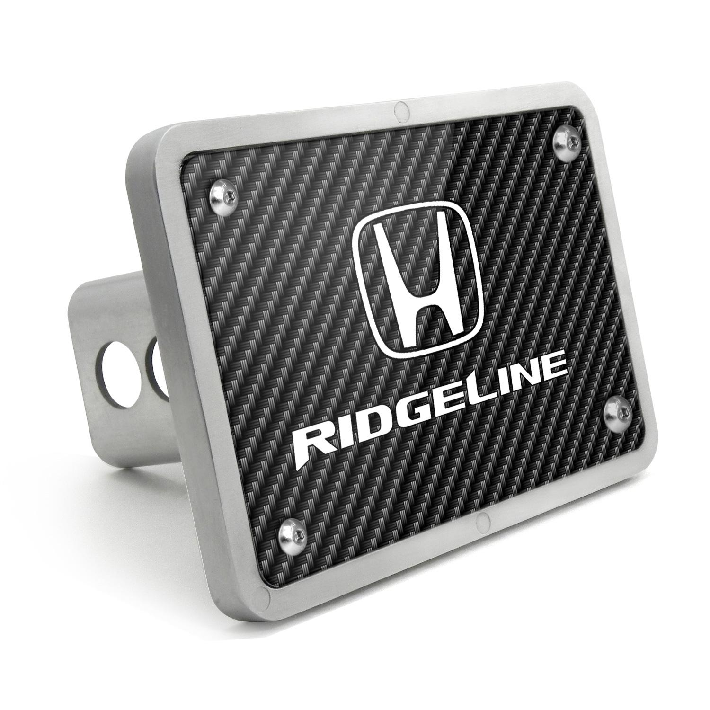 Honda Ridgeline UV Graphic Carbon Fiber Texture Billet Aluminum 2 inch Tow Hitch Cover