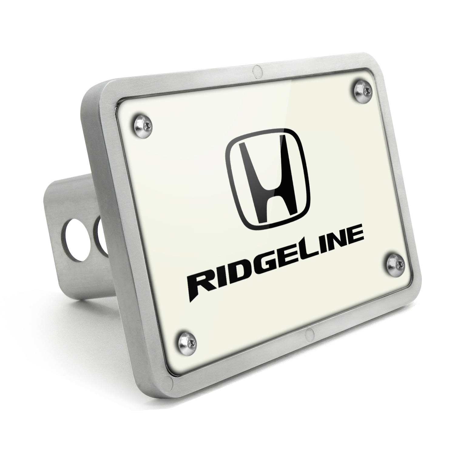 Honda Ridgeline UV Graphic White Billet Aluminum 2 inch Tow Hitch Cover