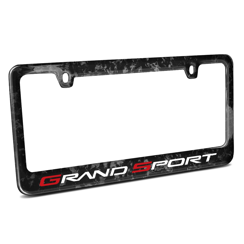 Chevrolet Corvette C6 Grand Sport Real Black Forged Carbon Fiber License Plate Frame