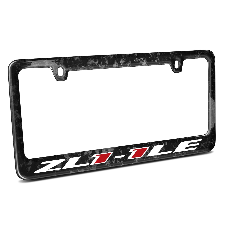 Chevrolet Camaro ZL1-1LE Logo Real Black Forged Carbon Fiber License Plate Frame