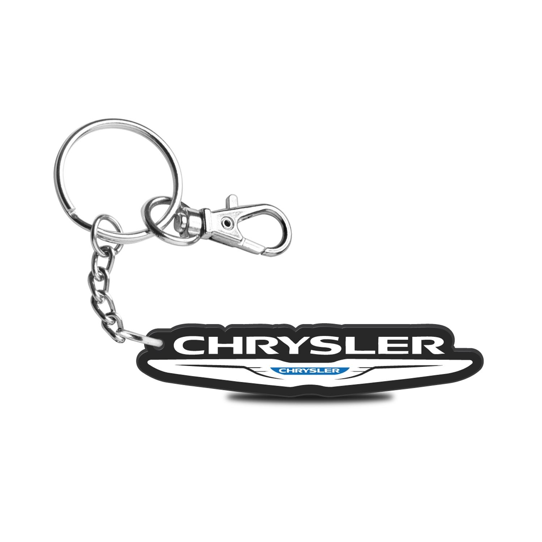 Chrysler Logo Custom Laser Cut UV Full-Color Printing Acrylic Charm Key Chain