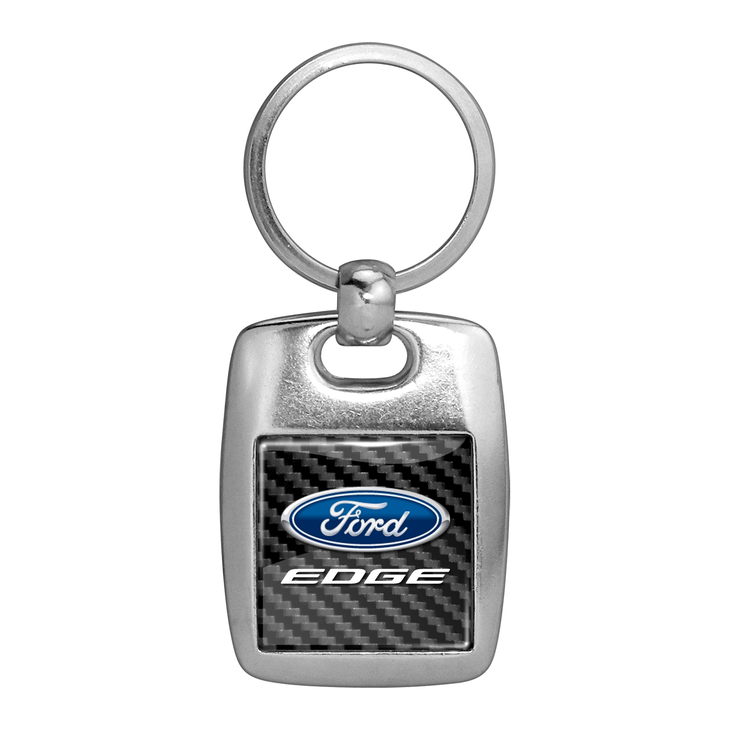 Ford Edge in Color on Carbon Fiber Backing Brush Metal Key Chain