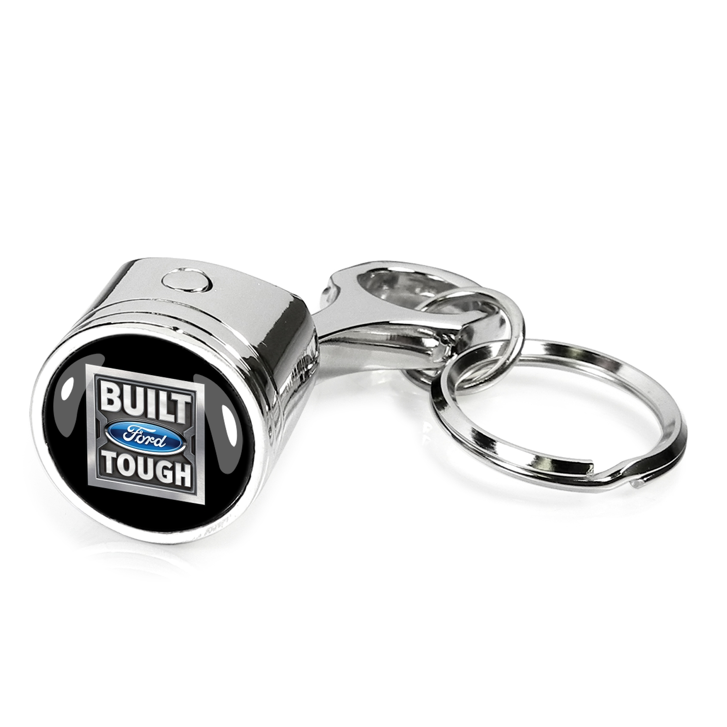 Ford Built Ford Tough Piston Style Metal Key Chain