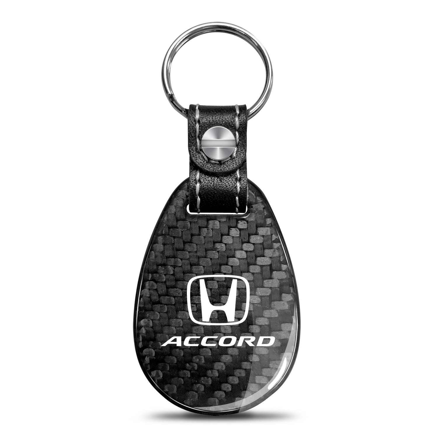 Honda Accord Real Carbon Fiber Large Tear-Drop Key Chain