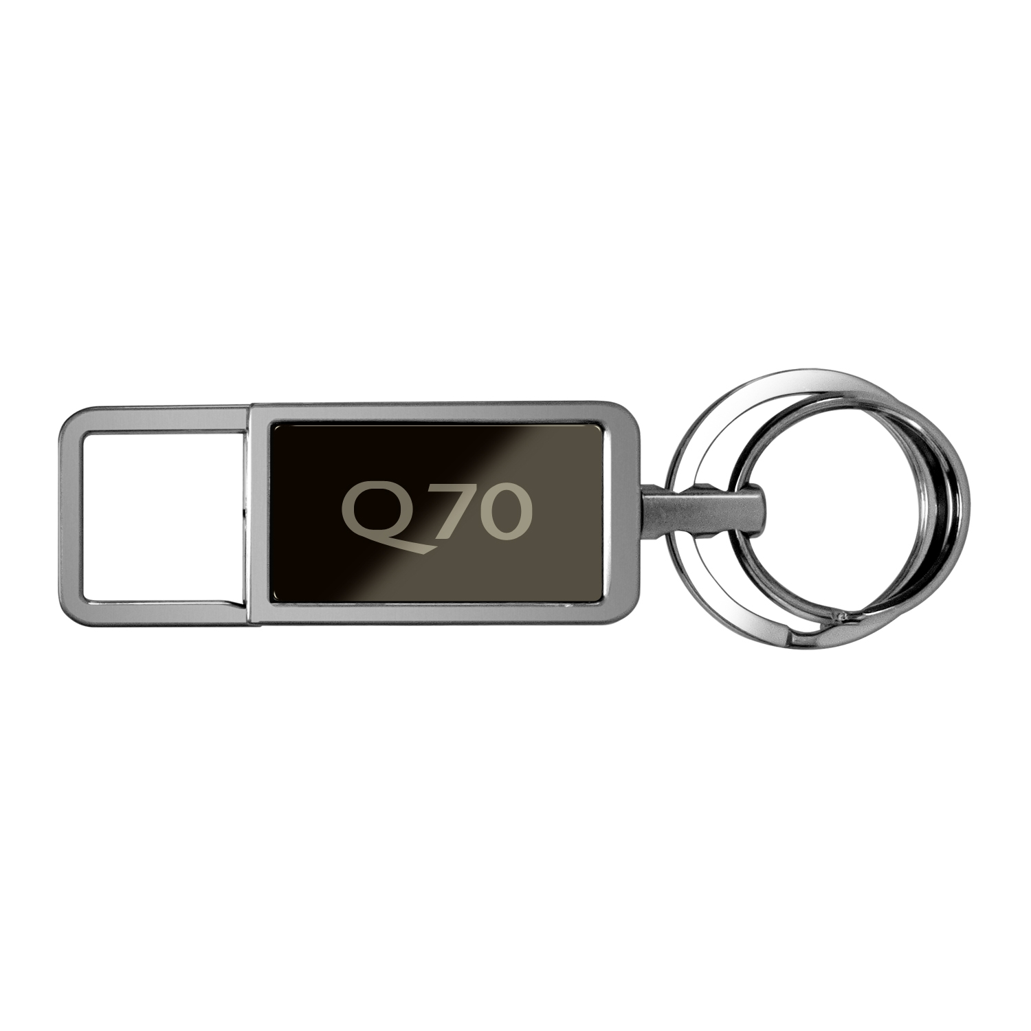 Infiniti Q70 Black Pull Top Rectangular Metal Key Chain