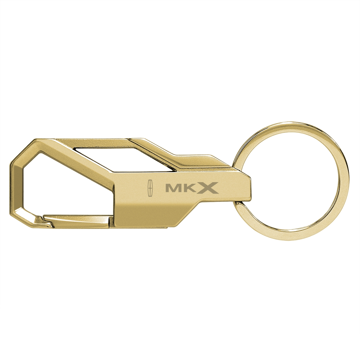 Lincoln MKX Golden Snap Hook Metal Key Chain