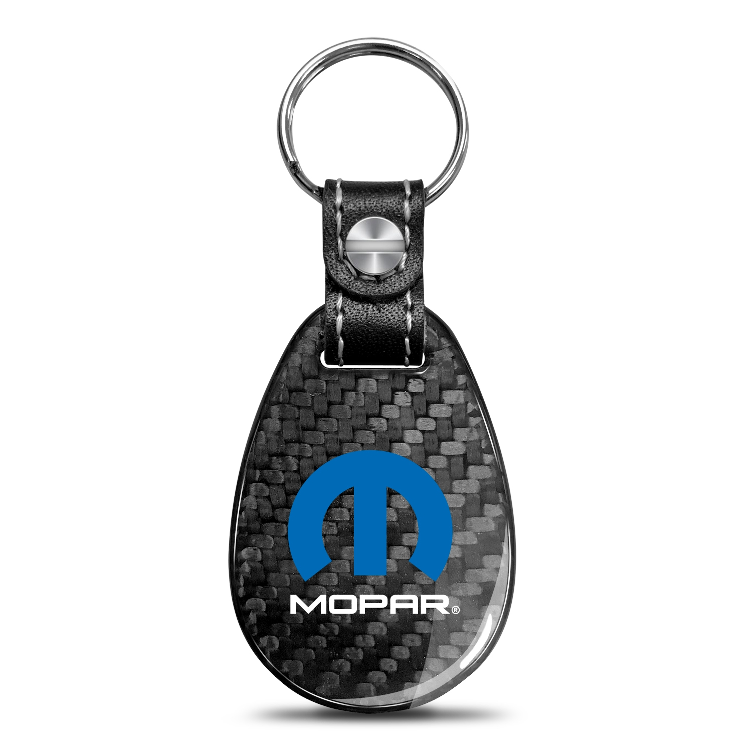 Mopar Real Carbon Fiber Large Tear-Drop Key Chain
