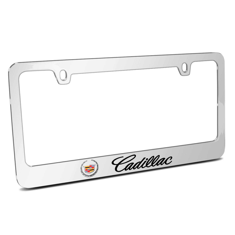 Cadillac 2013 Logo Mirror Chrome Metal License Plate Frame