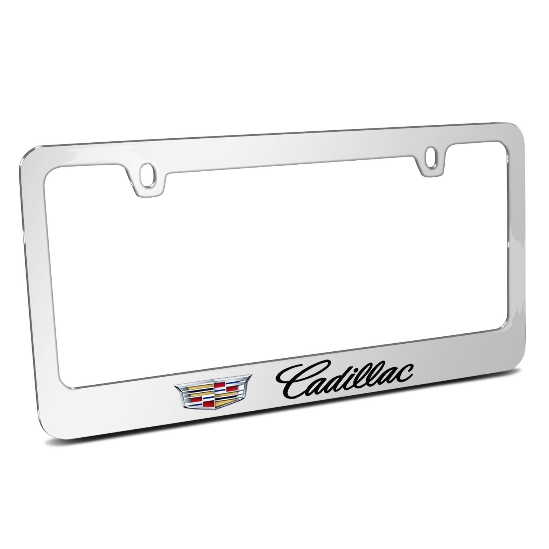 Cadillac 2015 Logo Mirror Chrome Metal License Plate Frame