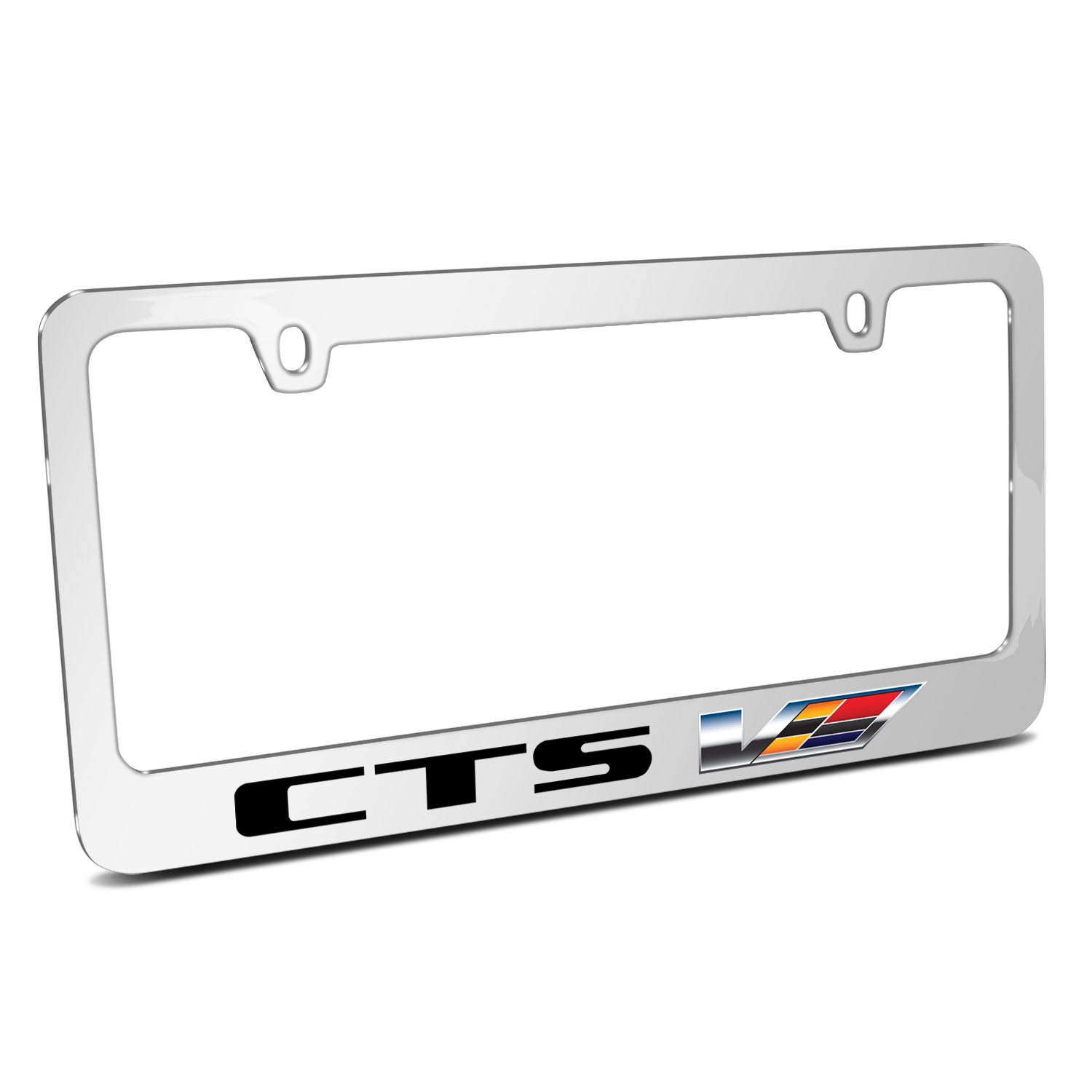 Cadillac CTS V 2007 Logo Mirror Chrome Metal License Plate Frame