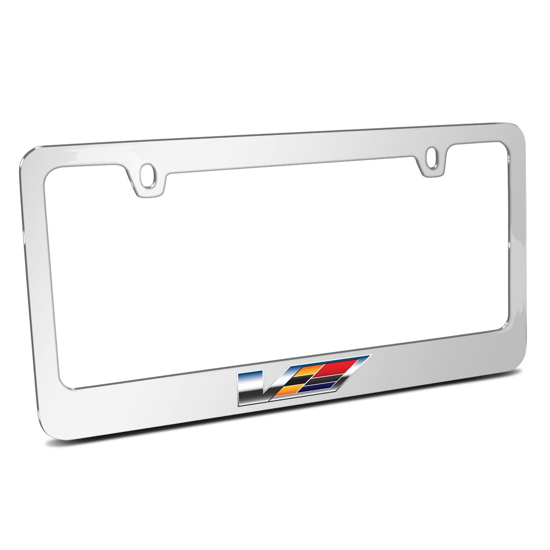 Cadillac V 2007 Logo Mirror Chrome Metal License Plate Frame