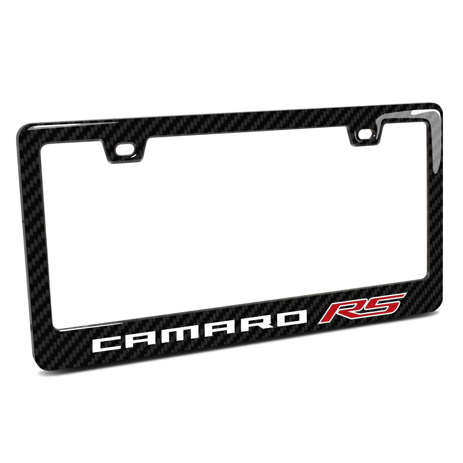 Chevrolet Camaro RS  in 3D on Real 3K Carbon Fiber Finish ABS Plastic License Plate Frame