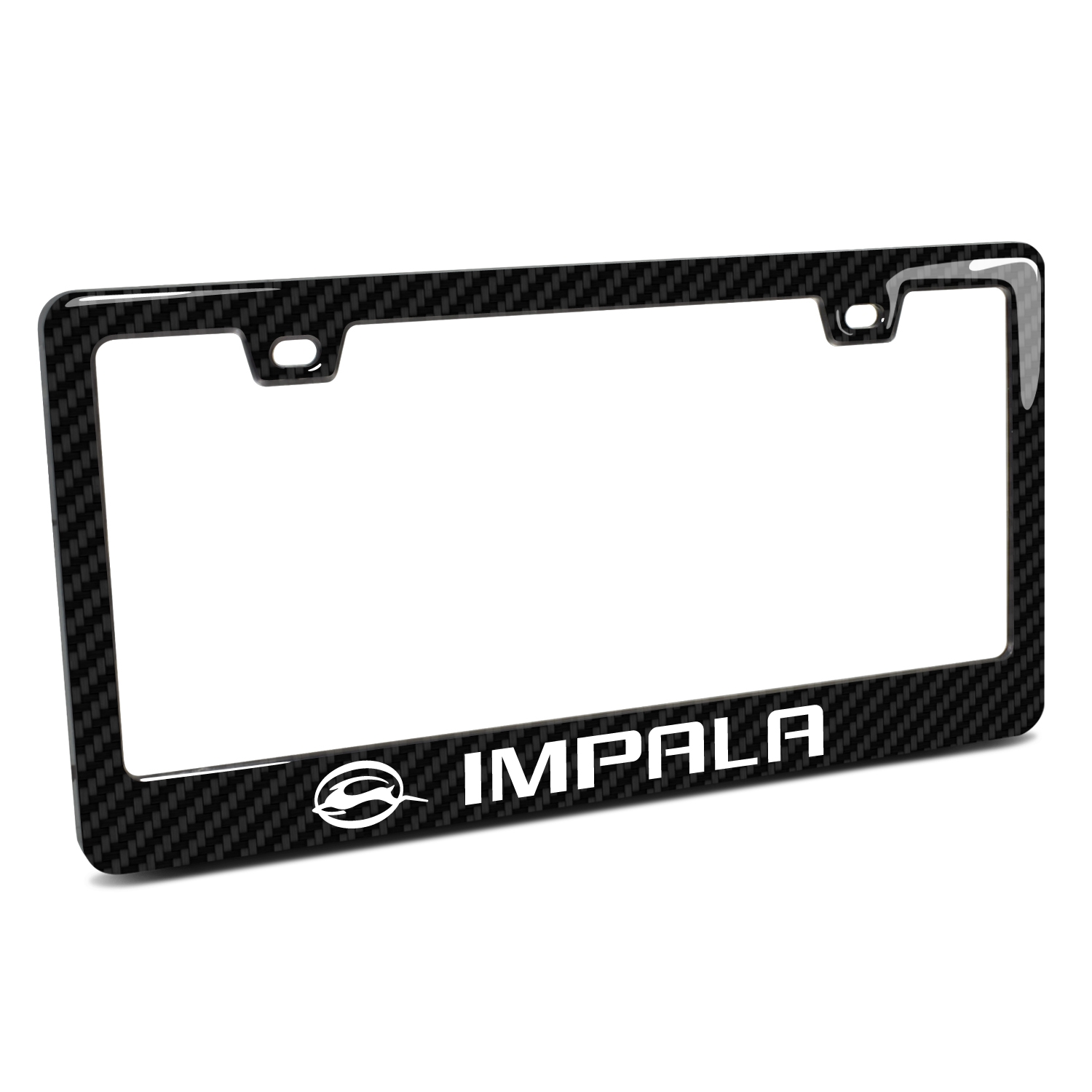 Chevrolet Impala in 3D on Real 3K Carbon Fiber Finish ABS Plastic License Plate Frame