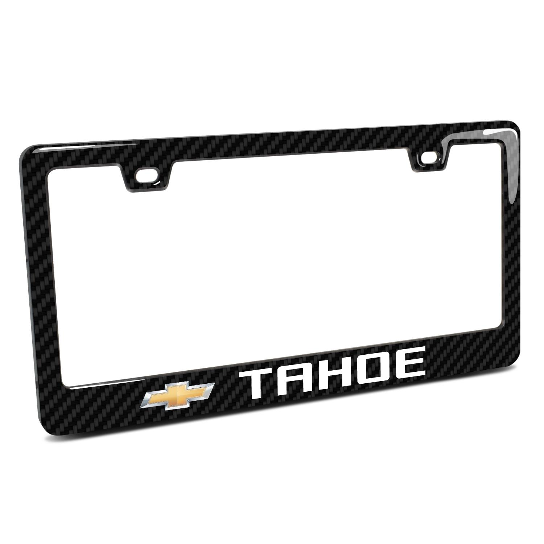 Chevrolet Tahoe in 3D on Real 3K Carbon Fiber Finish ABS Plastic License Plate Frame
