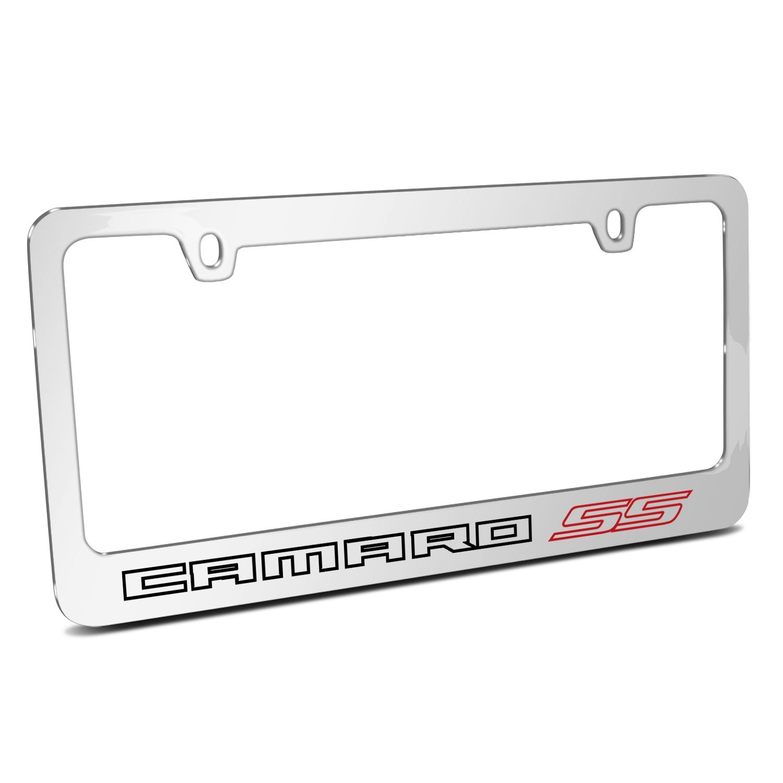 Chevrolet Camaro SS 2010 Outline Chrome Metal License Plate Frame