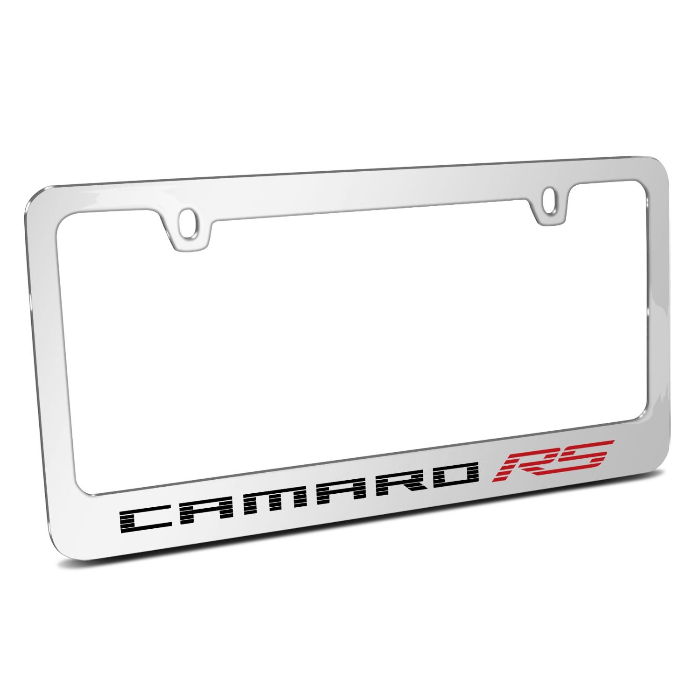 Chevrolet Camaro RS 2010 Chrome Metal License Plate Frame