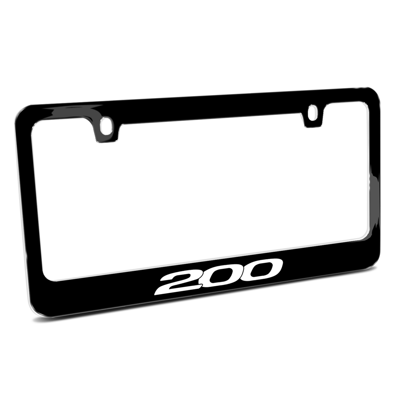 Chrysler 200 Black Metal License Plate Frame