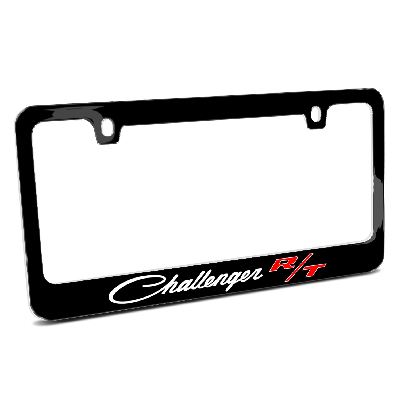 Dodge Challenger R/T Classic Black Metal License Plate Frame