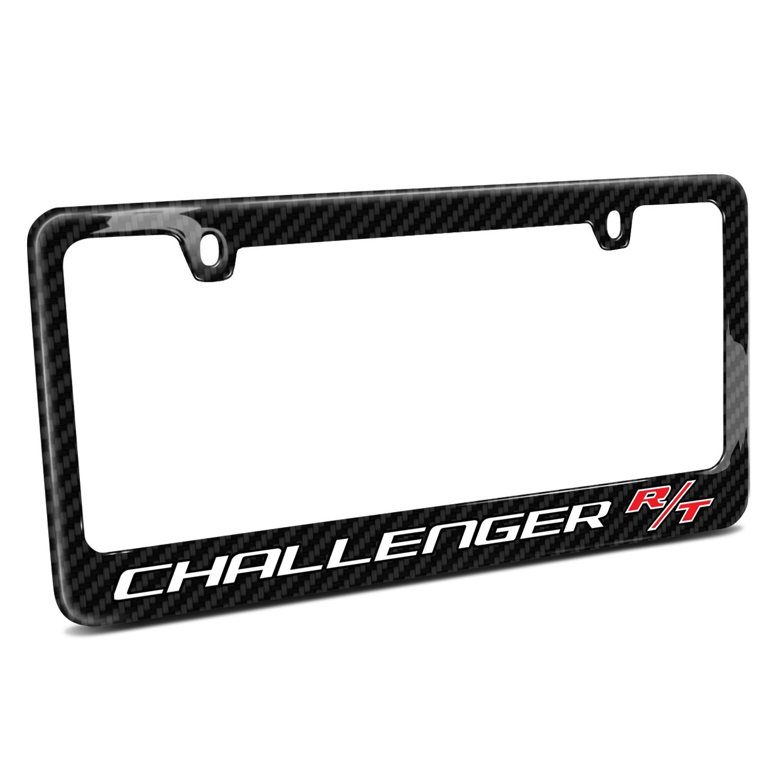 Dodge Challenger R/T Black Real Carbon Fiber License Plate Frame