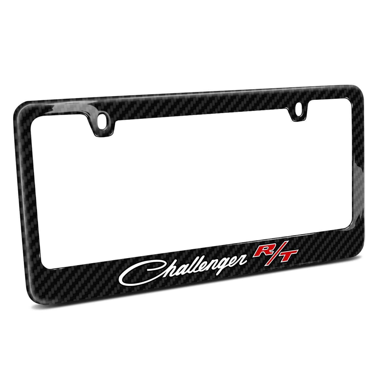 Dodge Challenger R/T Classic Black Real Carbon Fiber License Plate Frame