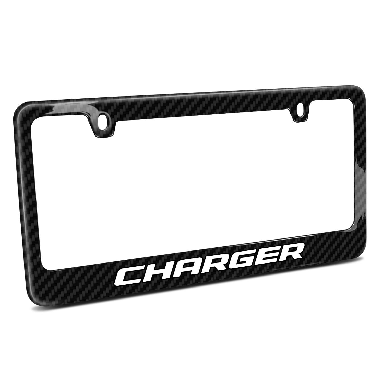 Dodge Charger Black Real Carbon Fiber License Plate Frame