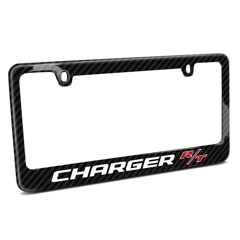 Dodge Charger R/T Black Real Carbon Fiber License Plate Frame