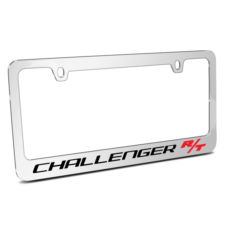 Dodge Challenger R/T Mirror Chrome Metal License Plate Frame